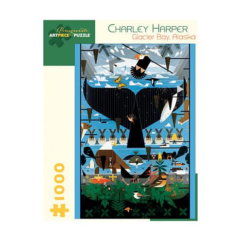Pomegranate Communications Inc. Charley Harper - Glacier Bay Alaska Puzzle: 1000 Pcs