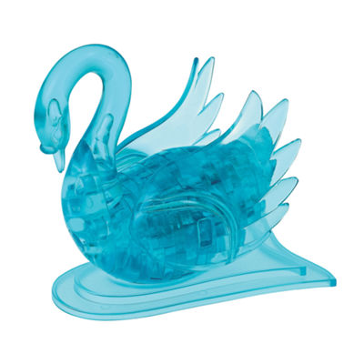BePuzzled 3D Crystal Puzzle - Swan (Blue): 43 Pcs