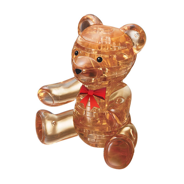 BePuzzled 3D Crystal Puzzle - Teddy Bear (Gold): 41 Pcs