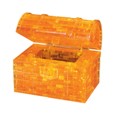 BePuzzled 3D Crystal Puzzle - Treasure Chest: 52 Pcs