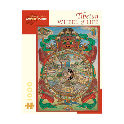Pomegranate Communications Inc. Tibetan Wheel of Life Puzzle: 1000 Pcs