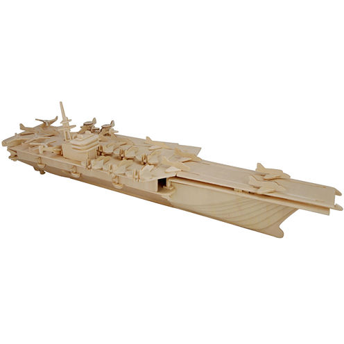 Puzzled Aircraft Carrier Wooden Puzzle