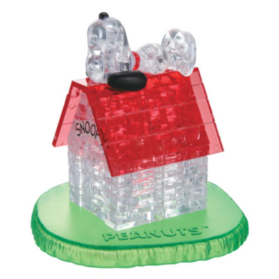 BePuzzled 3D Crystal Puzzle - Snoopy House: 50 Pcs