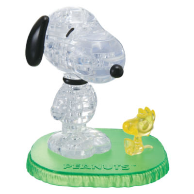 BePuzzled 3D Crystal Puzzle - Snoopy with Woodstock: 41 Pcs