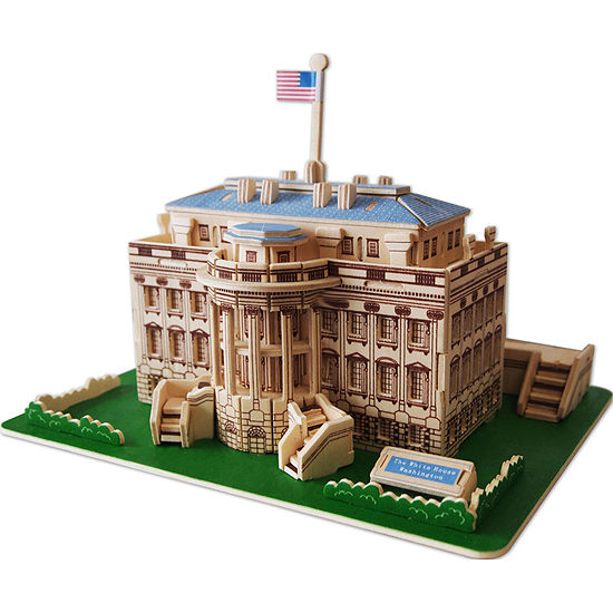 Puzzled The White House Natural Wood Puzzle
