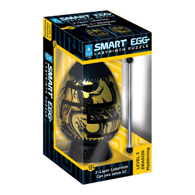 BePuzzled Smart Egg 2-Layer Labyrinth Puzzle - Black Dragon: Maddening