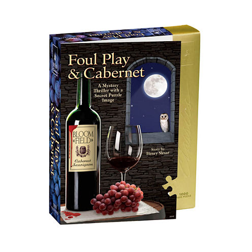 BePuzzled Foul Play and Cabernet Murder Mystery Jigsaw Puzzle: 1000 Pcs