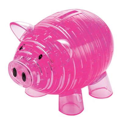 BePuzzled 3D Crystal Puzzle - Piggy Bank: 93 Pcs