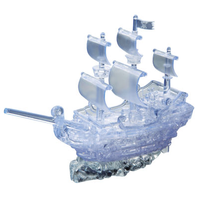 BePuzzled 3D Crystal Puzzle - Pirate Ship: 98 Pcs