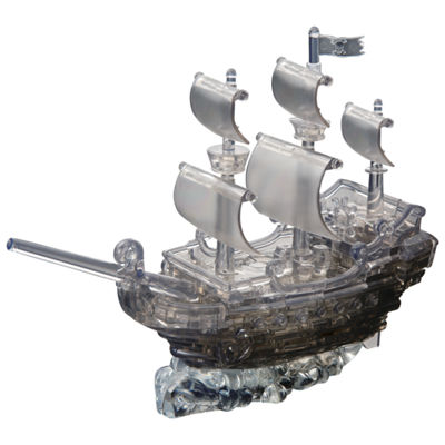 BePuzzled 3D Crystal Puzzle - Black Pirate Ship: 101 Pcs