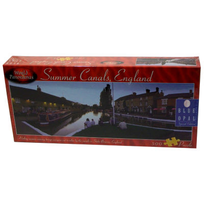 Blue Opal World Panoramas - Summer Canals; EnglandPuzzle: 500 Pcs
