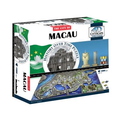 4D Cityscape Time Puzzle - Macau; China: 1000 Pcs