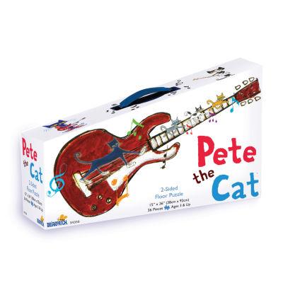 Briarpatch Pete the Cat 2-Sided Floor Puzzle Suitcase: 36 Pcs