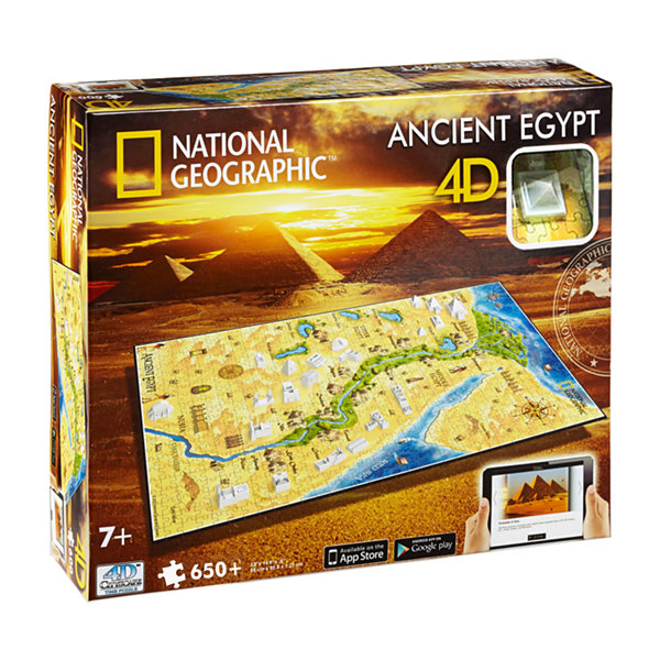 4D Cityscape Time Puzzle - National Geographic - Ancient Egypt: 650 Pcs