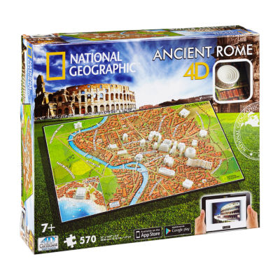 4D Cityscape Time Puzzle - National Geographic - Ancient Rome: 570 Pcs
