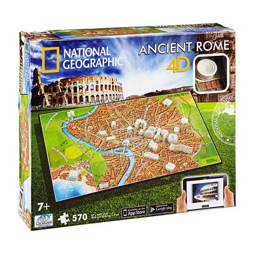 4D Cityscape Time Puzzle - National Geographic - Ancient Rome: 570 Pcs