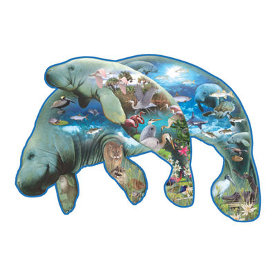 SunsOut Manatees - Shaped Puzzle: 1000 Pcs