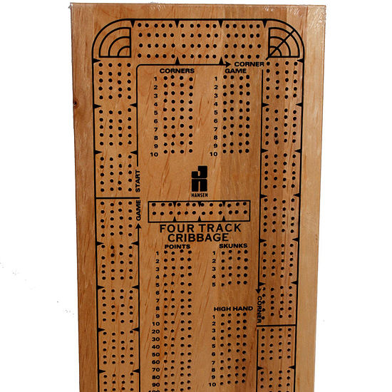 4 Track Continuous Wood Cribbage W Pegs