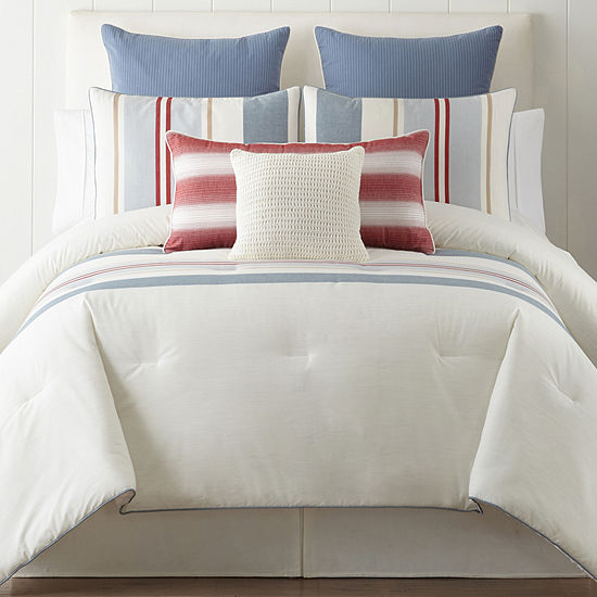 New England Charm Stripe 3-pc. Comforter Set