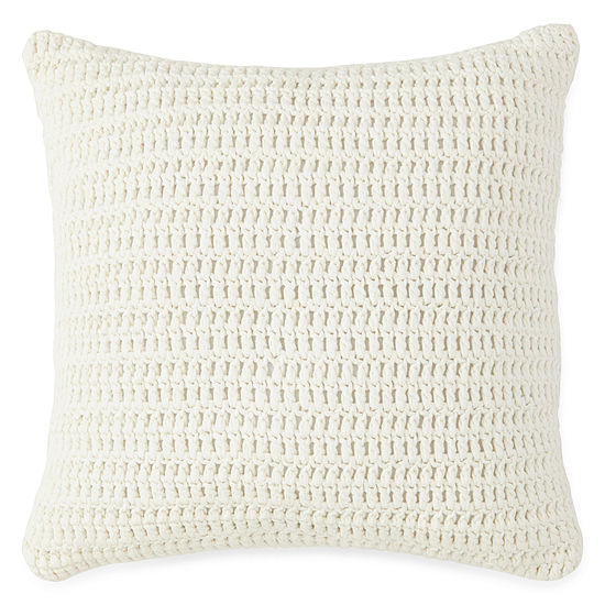 New England Charm Stripe Knit Decorative Pillow
