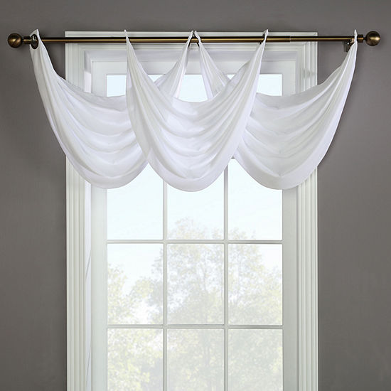 Rhapsody Lined Grommet-Top Waterfall Valance