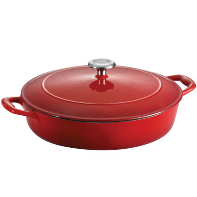 Tramontina® Gourmet 4-qt. Enameled Cast Iron Covered Braiser