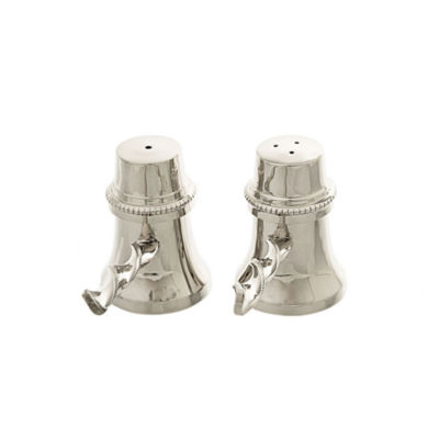 Classic Touch stainless steel Salt & Pepper Shaker Set