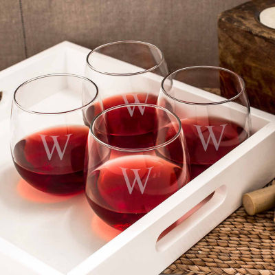 Cathy's Concepts 4-pc. Stemless Red Wine Glass