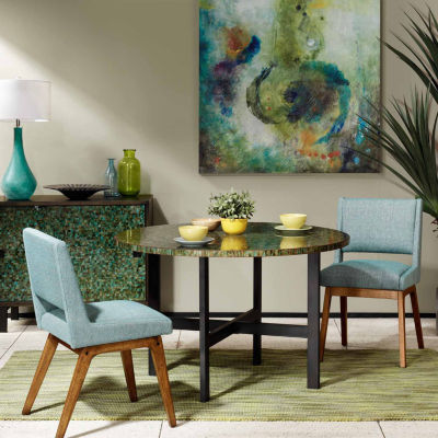 INK+IVY Mozart Mosaic Round Dining Table
