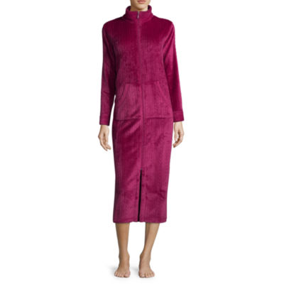 Collette by Miss Elaine Cable Fleece Long Zip Robe