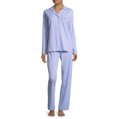 Laura Ashley Notch Collar Pajama Pant Set