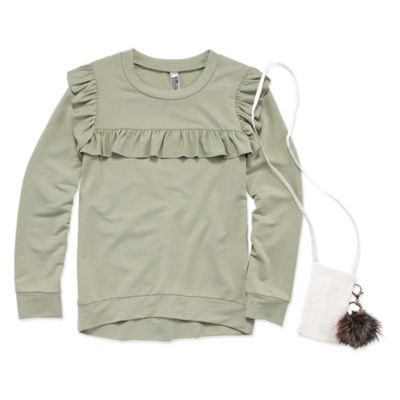 Beautees Ruffle Top w Purse - Girls' 7-16