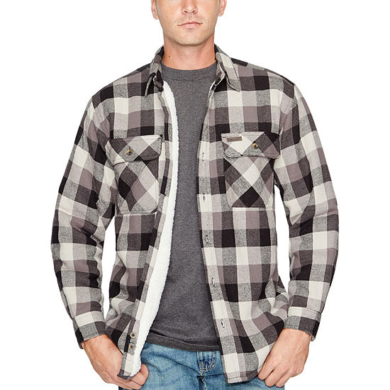 Smiths Sherpa Lined Flannel Shirt Jacket