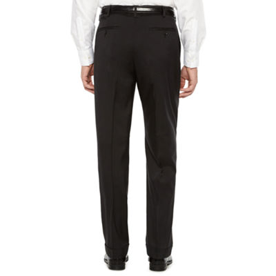 Savane Crosshatch Stretch Straight Fit Pleated Pants - Men's
