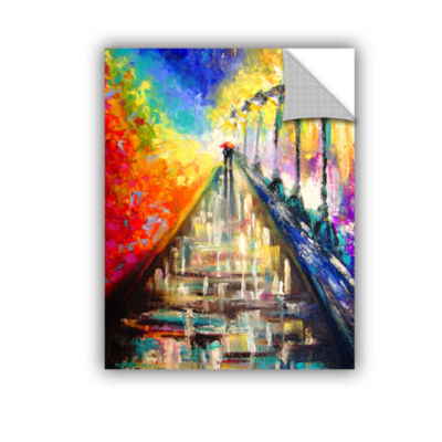 Brushstone Paris Back Street Magic 4-pc. Gallery Wrapped Staggered Canvas Wall Art