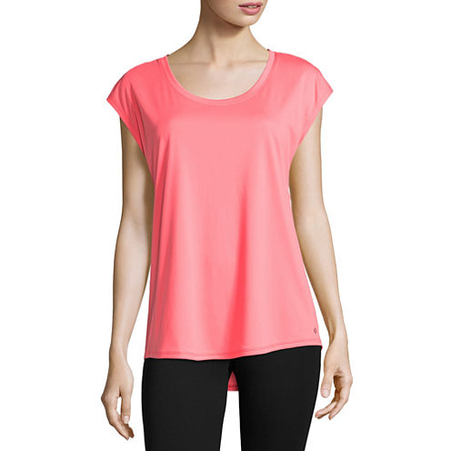 Xersion Sleeveless Scoop Neck T-Shirt-Womens