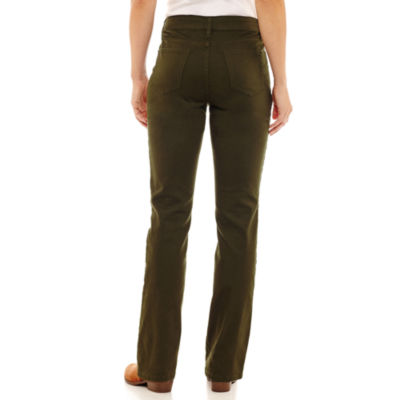 St. John's Bay Secretly Slender Embroidered Straight Jean