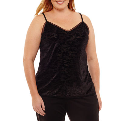Worthington Burnout Velour Knit Camisole - Plus