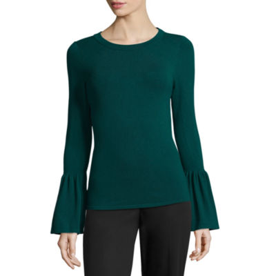 Worthington Long Sleeve Crew Neck Pullover Sweater - Tall