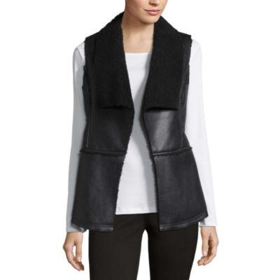 Liz Claiborne Fleece Vest-Talls