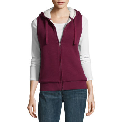 St. John's Bay Active Quilted Vest with Plush Lining- Talls