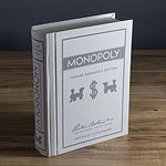 Monopoly Game - Linen Book Vintage Edition