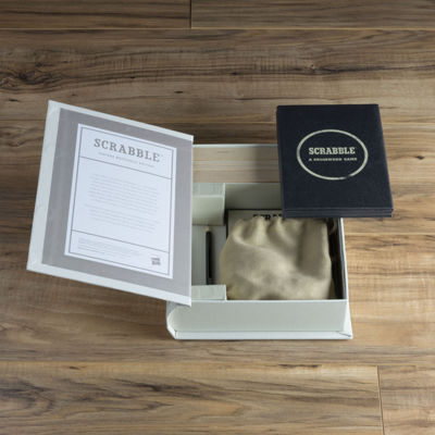 Scrabble Game - Linen Book Vintage Edition