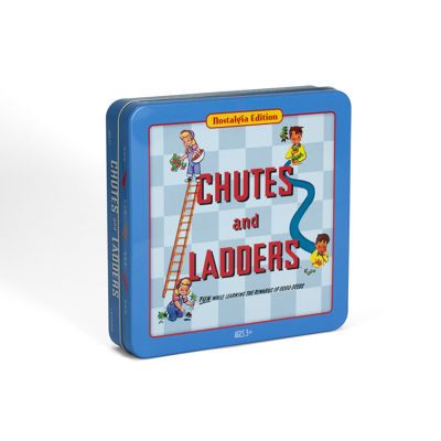 Winning Solutions Chutes & Ladders Board Game - Nostalgia Edition Game Tin