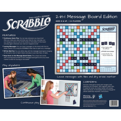Winning Solutions Scrabble Game And Message Board
