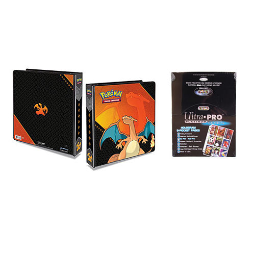 "Ultra Pro Pokémon Charizard 2"" 3-Ring Binder CardAlbum With 100 Ultra Pro Platinum 9-Pocket Sheets"""