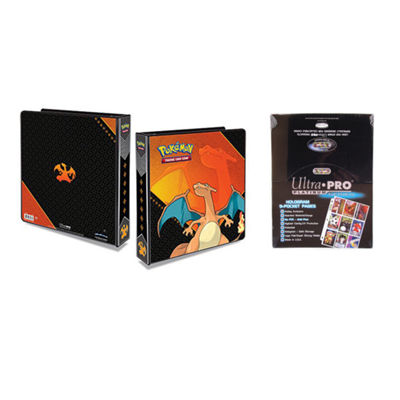 "Ultra Pro Pokémon Charizard 2"" 3-Ring Binder CardAlbum With 100 Ultra Pro Platinum 9-Pocket Sheets"""