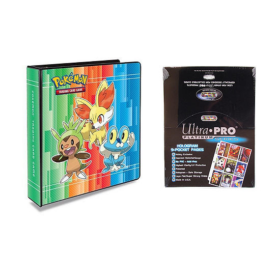 "Ultra Pro Pokémon X & Y 2"" 3-Ring Binder Card Album With 100 Ultra Pro Platinum 9-Pocket Sheets"""