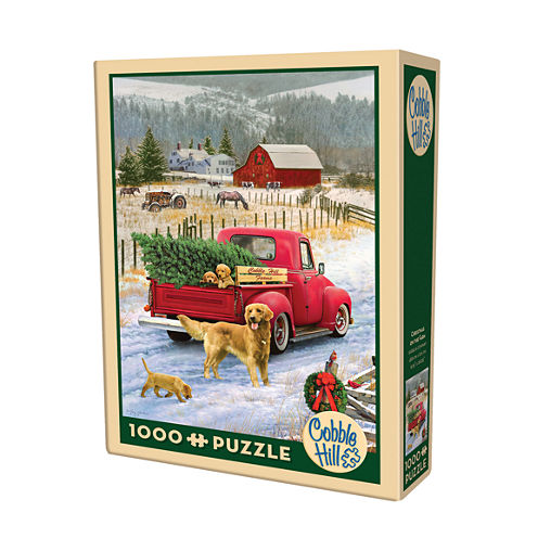 Cobble Hill Christmas On The Farm Puzzle - 1000 Pieces