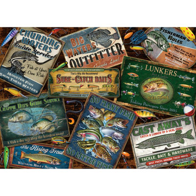 Cobble Hill Fish Signs Puzzle - 1000 Pieces